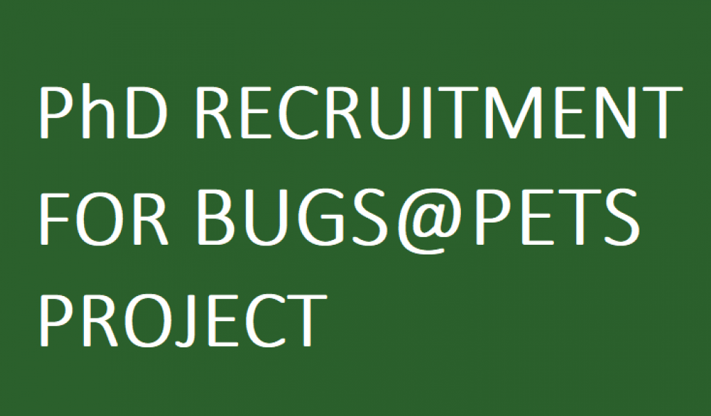 PhD Recruitment for Bugs@Pets Project