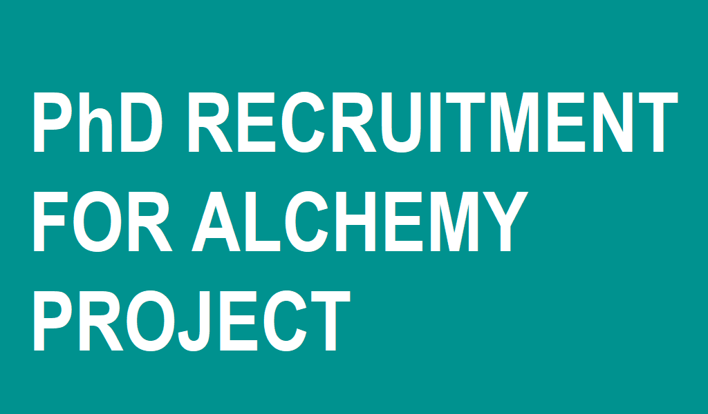 PhD Recruitment for Alchemy Project
