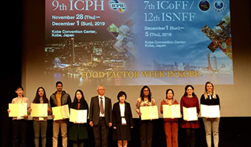 CBQF Research work awarded at the International Conference on Polyphenols and Health